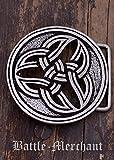 Cinturón Hebilla–celta dreifalt LARP gürtelschließe Vikingo Medieval Plata o bronce, plata