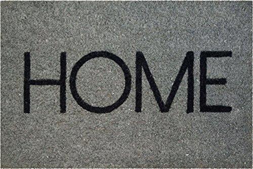 ID MAT Coco Home Naturel/ PVC Coco Home, PVC, Gris, 40x60x1, 5 cm