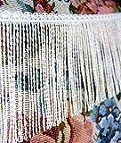 Mosel Avenue Art & Gobelin Studio 3,0 m Fransen Farbe Weiß / 130 mm breit / 3,0 m - 6,0m - 9,0m usw/Dekoborte Posamentenborte Fransenborte