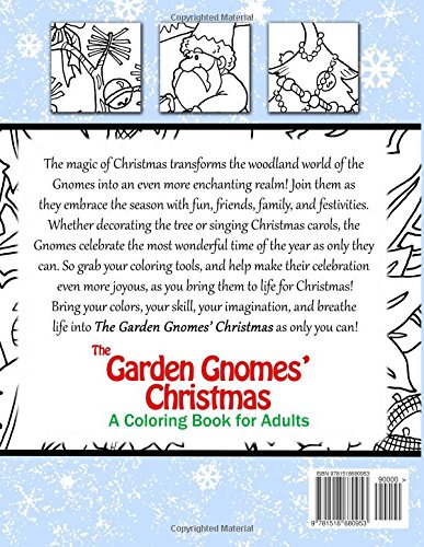 The Garden Gnomes Christmas A Coloring Book For