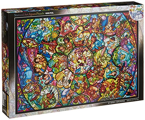 Tenyo Disney All Stars gebeizt Glas transluzent Puzzle (1000 Stück) (Duck Glass Art)