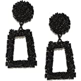 Jewels Galaxy Stylish Geometric Sparkling Dangle Earrings For Women/Girls