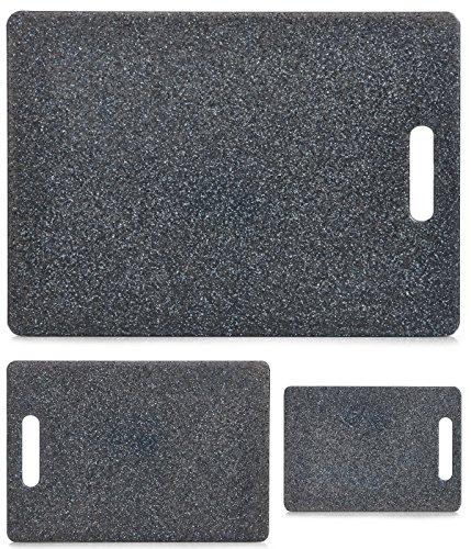 Schneidebrett mit Griff, Kunststoff Granitoptik, Servierbrett, Tranchierbrett in 3 Größen lieferbar (mittel 30x20cm)