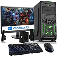 Fierce Haswell Quad Core Custom Gaming PC Bundle - Windows 10 - Keyboard, Mouse, Monitor, Speakers - i7 4790, GTX 750 Ti 2GB, 16GB of 1600MHz Performance DDR3 Memory, 1TB SATA3 Hard Drive - Home, Office, School, College, University - 215643