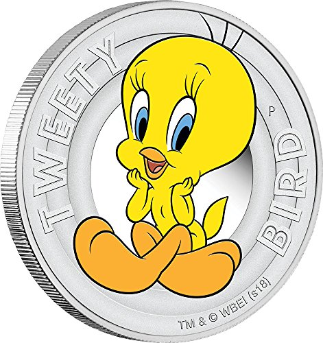 Power Coin Tweety Bird Looney Tunes Silber Münze 50 Cent Tuvalu 2018