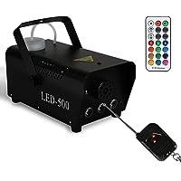Clanmacy Nebelmaschine Rauchmaschine 500W Mini DJ effekt Schnelle Generierung von Nebel 13 farbige 3 LEDs mit LED…