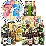 72. Geburtstagsgeschenk | Biergeschenke | Biere aus aller Welt und Deutschland | 72 Geburtstag Geschenke Ideen | INKL Geschenkkarten + Umschläge 6x, 3x Urkunde, Bier Bewertungsbogen
