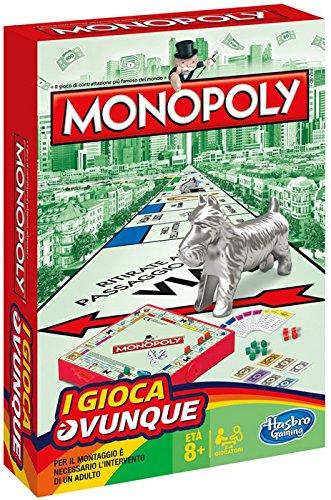 Hasbro - Juego Viaje Monopoly versión Italiano