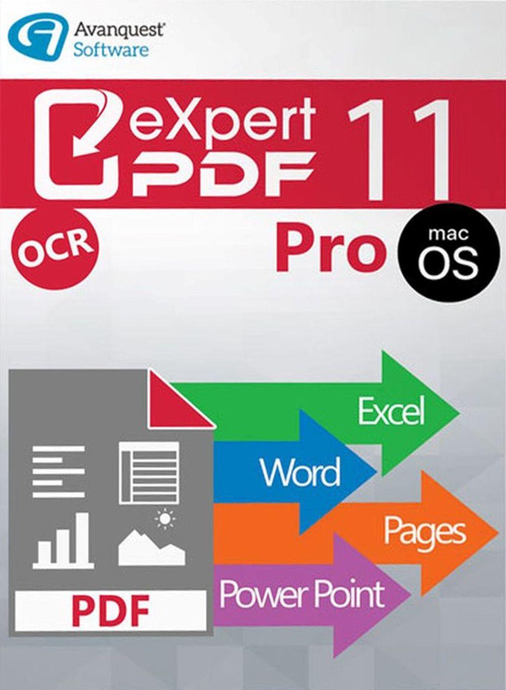 eXpert PDF 11 Pro - Bearbeiten Sie Ihre PDF-Dateien einfach, schnell und präzise! Auch für Mac OS 10.13 High Sierra [Online Code]