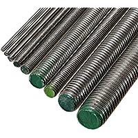 3 x Gewindestange A2 Edelstahl M12 x 1000 mm - DIN 976 / DIN 975 - Gewindebolzen mit 12 mm Durchmesser und 1 m Länge - Werkstoff A2 (VA / V2A)