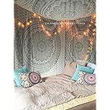 Exclusive plateado Ombre Mandala tapiz por raajsee, bohemio, tapiz elefante colgante de pared Glorafilia, Hippy Hippie psicodélico tapiz Tamaño 220* 240cm