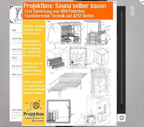 Sauna selber bauen: Deine Projektbox inkl. 499 Original-Patenten bringt Dich mit Spaß ans Ziel! (CD-Rom)
