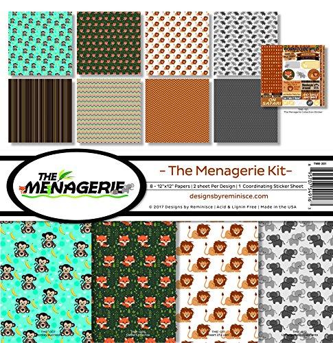 Zeiten der Menagerie Scrapbook Kollektion Kit 2 -