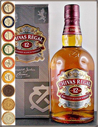 Chivas Regal 12 Jahre Scotch Whisky & 9 DreiMeister Edel Schokoladen in 9 Geschmacksvariationen, kostenloser Versand