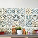 Ambiance-Live 24Aufkleber Fliesen | Sticker Selbstklebend Fliesen–Mosaik Fliesen Wandtattoo Badezimmer und Küche | Fliesen Kleber–Design authentischen–10x 10cm–24-teilig