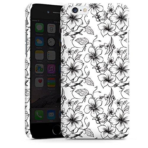 Apple iPhone X Silikon Hülle Case Schutzhülle Blumen Vintage Muster Premium Case matt