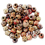 #5: Imported 100pcs 12mm Mixed Round Wooden Beads for Jewelry Making Loose Spacer Charms