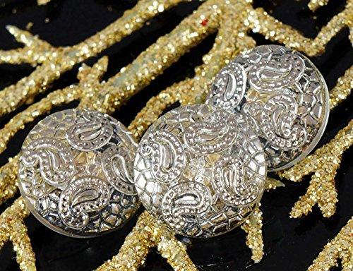 Newsbenessere.com 61TwY5Bs4hL Fatti a mano di Vetro ceco Bottoni d'Argento di Cristallo del Fiore di Dimensione 6, 13,5 mm 1pz