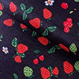 Hongma PVC Stoff Kunstleder Erdbeere als Bezugstoff