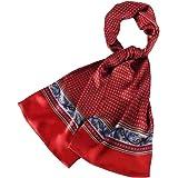 LDCSA Foulard Uomo Seta Elegante Raso Sciarpa Business Satin Silk Scarf Regalo 160 x 26cm