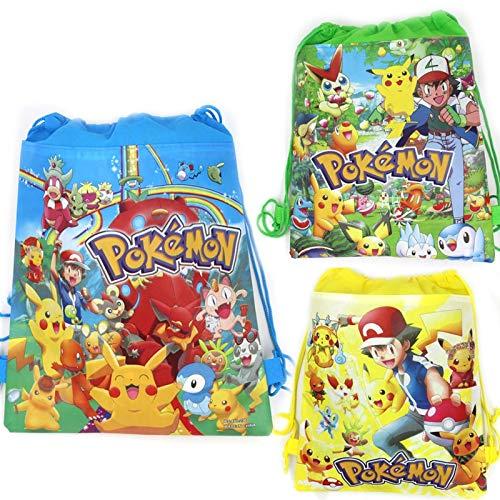 Uniqus 1 Stück Pokemon Go Baby Shower Kinder Gastgeschenke Vlies Stoff Kordelzug Mochila Geschenke Beutel Pikachu Rucksack Geburtstag Party Supplies