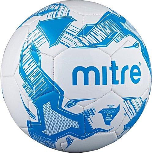 Mitre Balon de fútbol, color Blanco - Blanco y azul, tamaño Talla 4