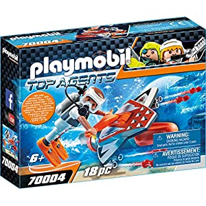 Playmobil 70004 Top Agents Spy Team Underwater Wing Multi-Coloured