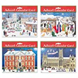Alison Gardiner Pack of 4 Traditional Advent Calendar Cards -Mixed