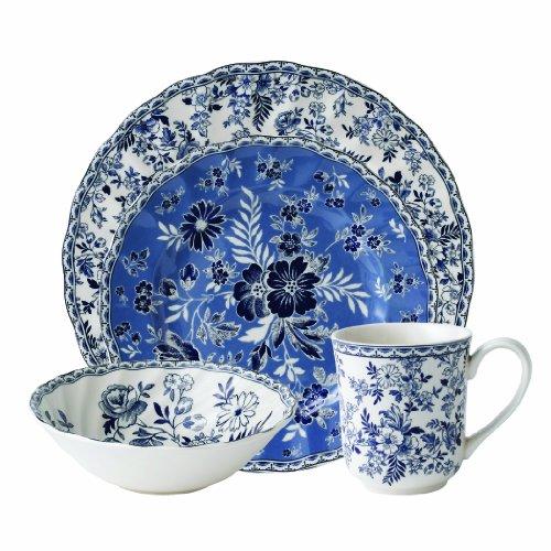 Johnson Brothers Devon Cottage Tischset 4-teiliges Geschirrset 4 pieces blau/weiß Johnson Brothers Cup