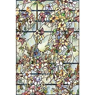 Artscape Trellis Window Film 61 x 92 cm, Vinyl, Green, 91.4 x 61 x 0.02 cm