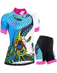 NUCKILY Ropa de ciclo de verano para mujer diseño personalizado Sportwear
