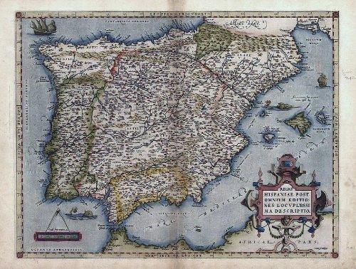 reproduction-antique-map-of-hispaniae-espania-spain-portugal-iberia-by-abraham-ortelius-a1-size-78-x