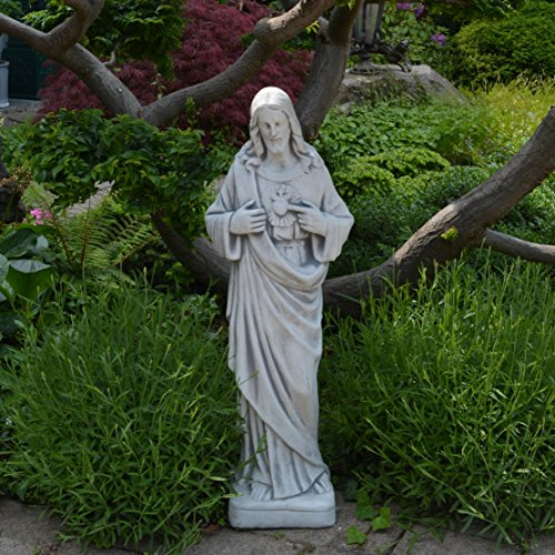 gartendekoparadies.de Herrliche große Statue Heilige Vater Jesus aus Steinguss frostfest