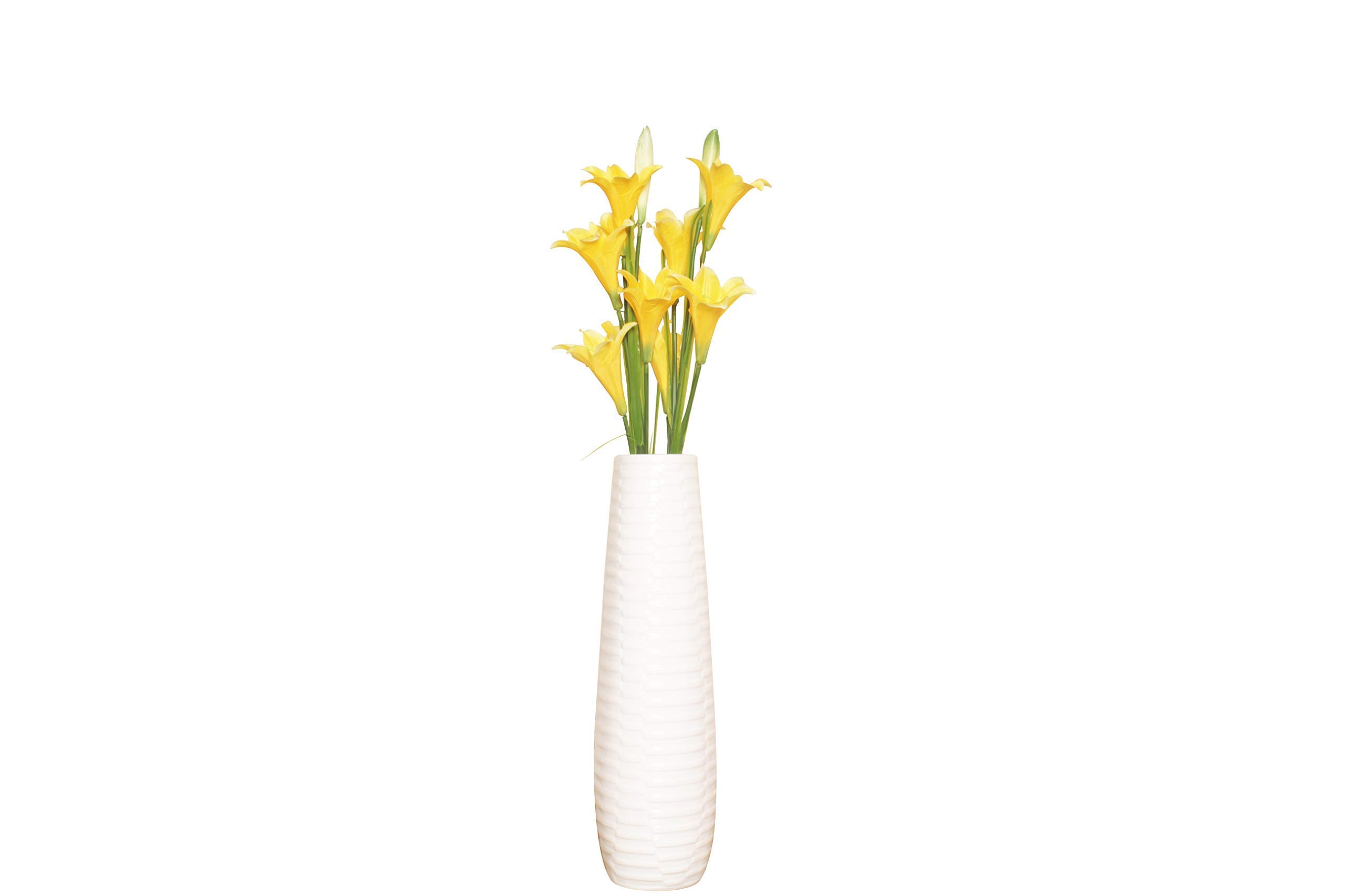 Reshu S Big White Flower Vase For Home Decor 60cm Flower Vase For