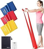 OMERIL Bande Elastiche Fitness (3 Pezzi), 1,5 m Fasce Elastiche con 3 Livelli di Resistenza, Fascia Elastica Esercizi...