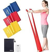 OMERIL Bande Elastiche Fitness (3 Pezzi), 2 m/ 1,5 m Fasce Elastiche con 3 Livelli di Resistenza, Fascia Elastica…