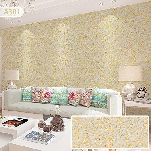 JJTLZY Mur Vêtements De La Tv Fond Mur Étanche Salon Chambre Papier Peint Fiber Revêtement,Or Brillant A301