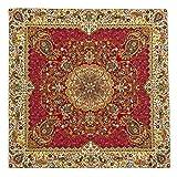 LPUK Tischdecke Afshari Collection Series1 rot 100 cm × 100 cm ca. Quadratischen Tisch Stoff Tischdecke Classic Vintage