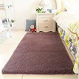 Verdicken sie Bereichswolldecke Wohnzimmer Waschbar,Europäischen teppich einfarbigen teppich rechteck footcloth einfache verdicken moderne unregelmäßige design für wohnzimmer bett-E 31*63inch(80*160cm)