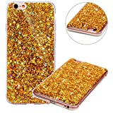 Coque pour iPhone 6 Plus,Coque pour iPhone 6S Plus,Paillette Coque pour iPhone 6/6S Plus,Surakey Bling Brillant Cristal Glitter Diamant strass Coque Silicone Étui Ultra Mince Housse pour iPhone 6S Plus Coque de Protection en TPU avec Absorption de Choc Bumper et Anti-Scratch Etui Premium Semi Hybrid Crystal Clear Flex Soft Skin Souple Coque Etui en Silicone Téléphone Couverture TPU Cover Coque Housse Étui pour iPhone 6/6S Plus 5.5 Pouces - Oren