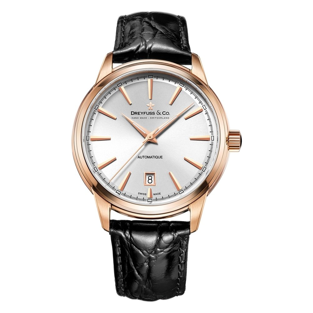 Dreyfuss Mens Analogue Classic Automatic Watch with Leather Strap DGS00162/02