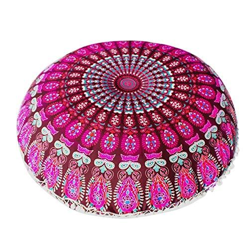 VJGOAL Mandala India Redonda Bohemio Funda de Almohada decoración del hogar Funda...