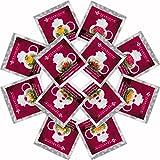 Teabloom Herzförmiger Blütentee – Geschenk-Set mit 12 zusammengestellten Blühenden Teeblumen - Grüner Tee + Jasmin, Granatapfel, Erdbeere, Rose, Litchi & Pfirsich - 2