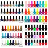 Beauty4Britain - Set di 52 smalti misti, con glitter, fluo, lucidi e opachi, 48 tonalità diverse e 4 top coat