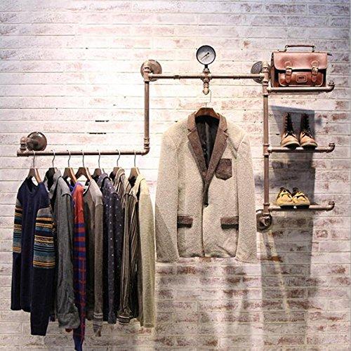 Unbekannt FEI Rack Regale Multifunktions-Bekleidungsgeschäft Regale  Ausstellungsstand  Für Bekleidungsgeschäft (Farbe : Bronze)