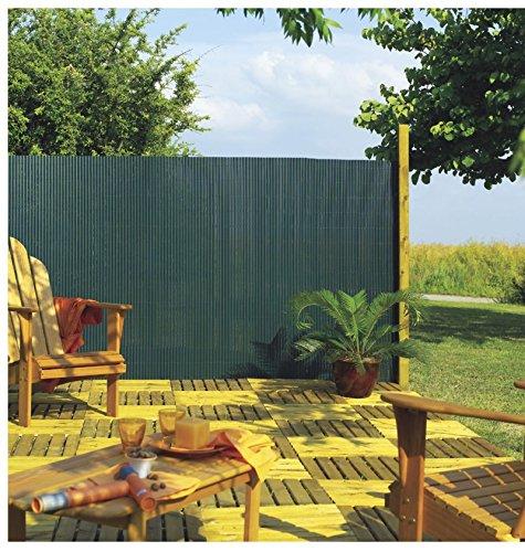 Intermas - INTERMAS - Canisse PVC simple face Vert 85% occultant 2x3 m PLASTICANE