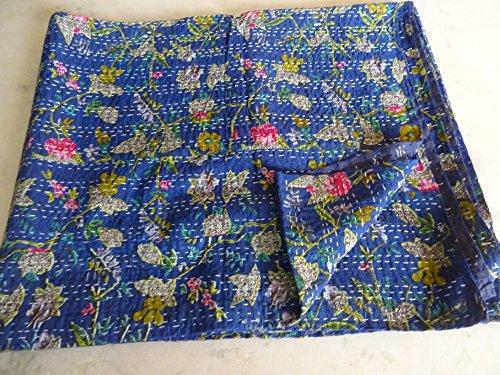 Tribal asiatischen Textilien Multicolor Paisley Paradise Print King Size Kantha Quilt, Kantha Decke, Bett, King Kantha Tagesdecke, Bohemian Betten Kantha Größe 228,6x 274,3cm 15 (Quilts Für King-size-bett)