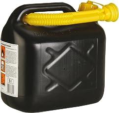 Unitec 73853 Benzinkanister 5L Kunststoff, farblich sortiert