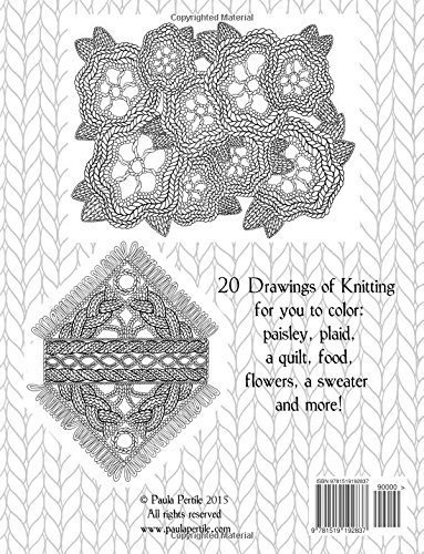 Drawings of Knitting Sampler: a coloring book with original art by Paula Pertile