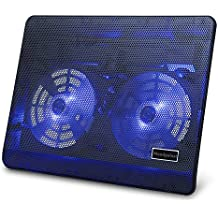 Mondpalast @ Base Sistema Ventola di Raffreddamento Appoggio Supporto Cooling Stand con Blue LED per PC Portatile fino a 17